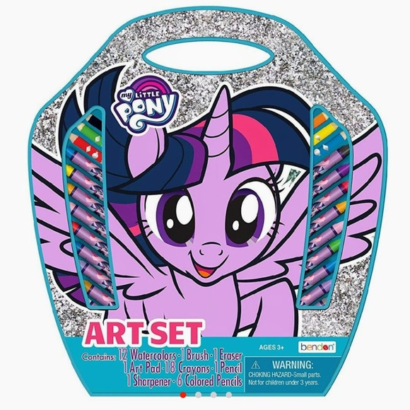 My Little Pony Other - MY LITTLE PONY Art Kit Case Markers Paint Crayons